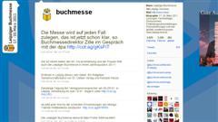 18.01.2011, 19.46 Uhr, Screenshot: http://www.twitter.com/buchmesse