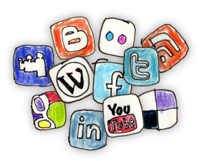 Social Media Icons handpainted
