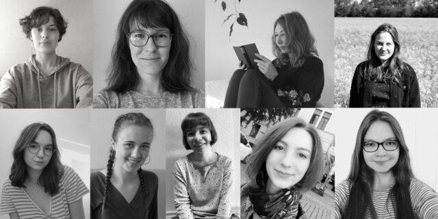 Collage aus Profilbildern des neuen Lektorats- und Redaktionsteams von Verlage der Zukunft